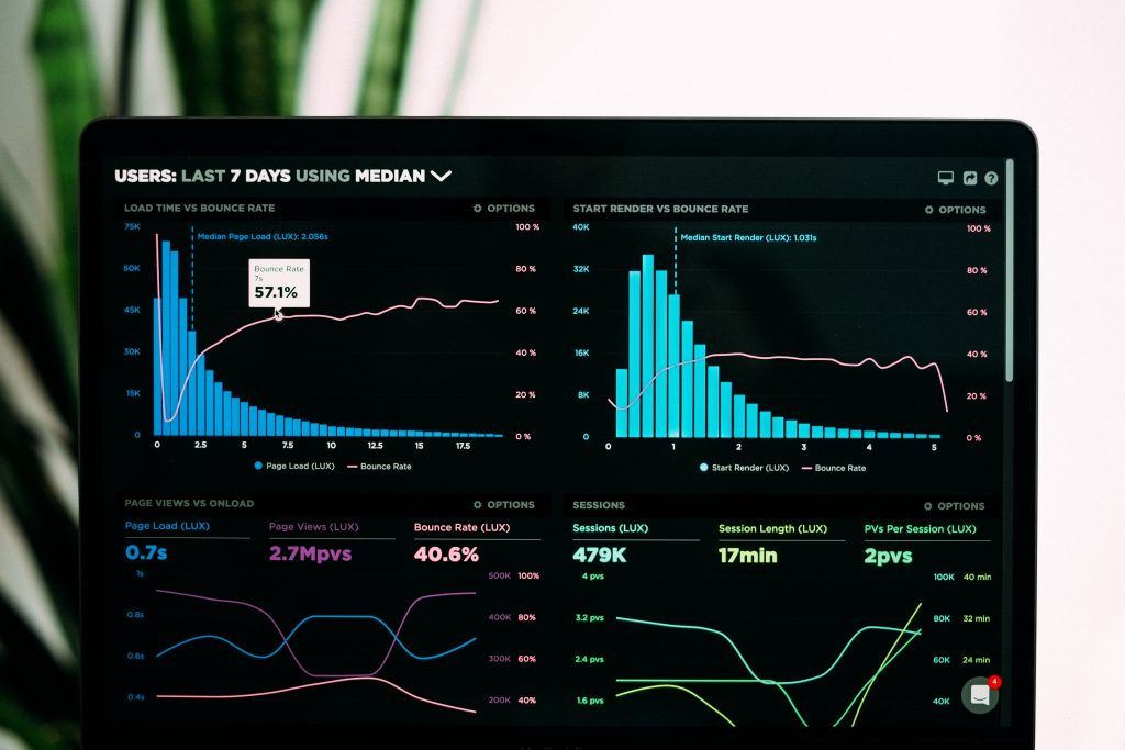 Data-analyysi dashboard. Kuvituskuva